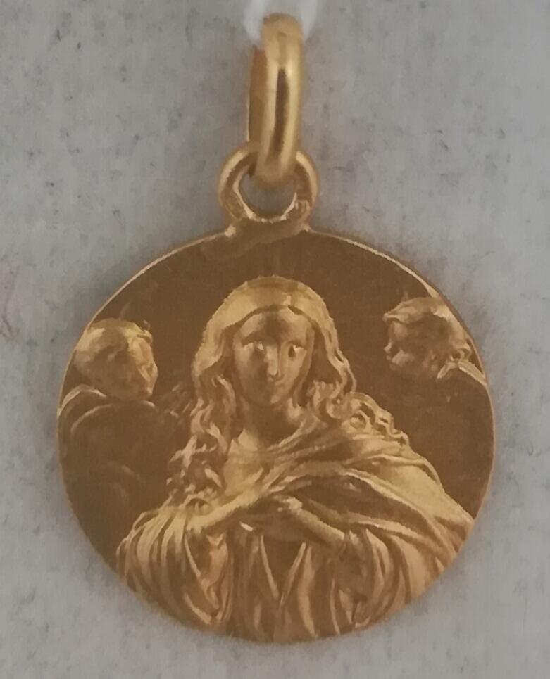 Medalla De Oro Virgen Inmaculada Tamaño Pequeño