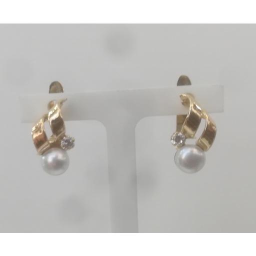 Pendientes Oro Niña Con Perlas Ideal Comunion
