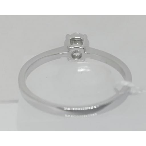 Anillo Solitario Diamante Oro Blanco [2]