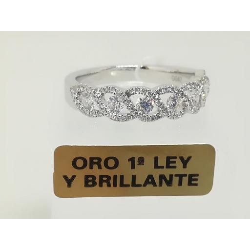 Anillo De Diamantes Para Compromiso Oro Blanco 18 Quilates