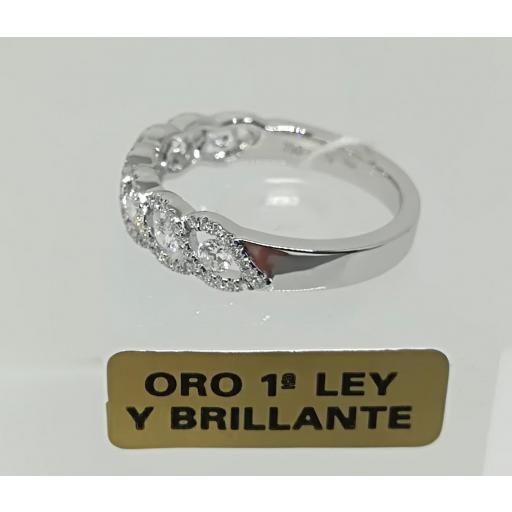 Anillo De Diamantes Para Compromiso Oro Blanco 18 Quilates [1]