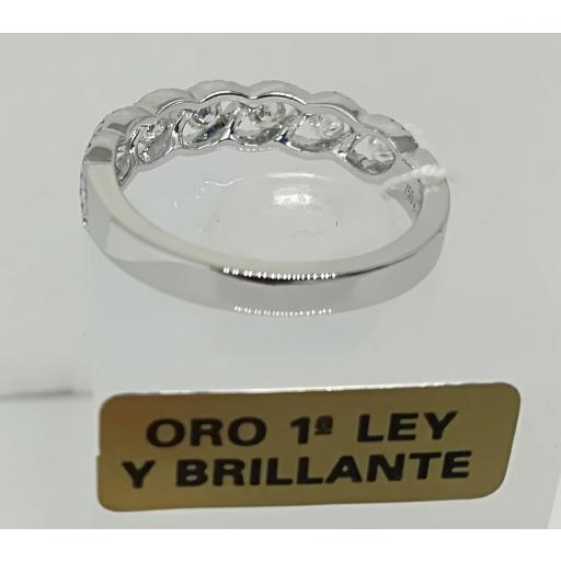 Anillo De Diamantes Para Compromiso Oro Blanco 18 Quilates [2]