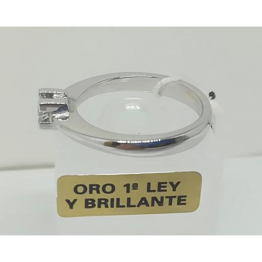 Anillo Diamantes Solitario En Oro 18 Quilates [2]