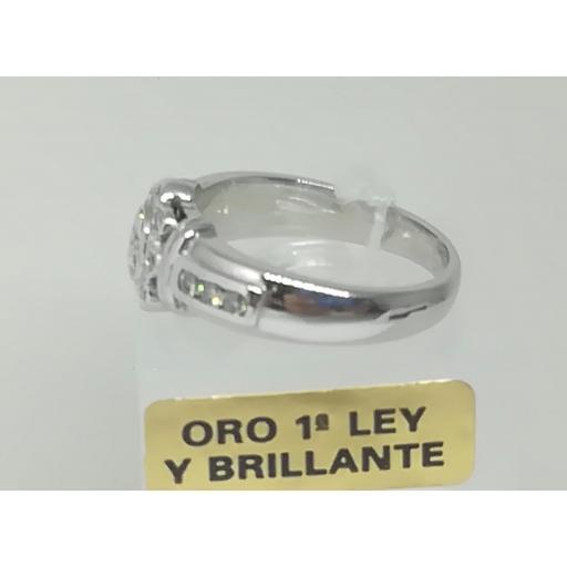 Anillo Diamantes Compromiso Oro Blanco [1]