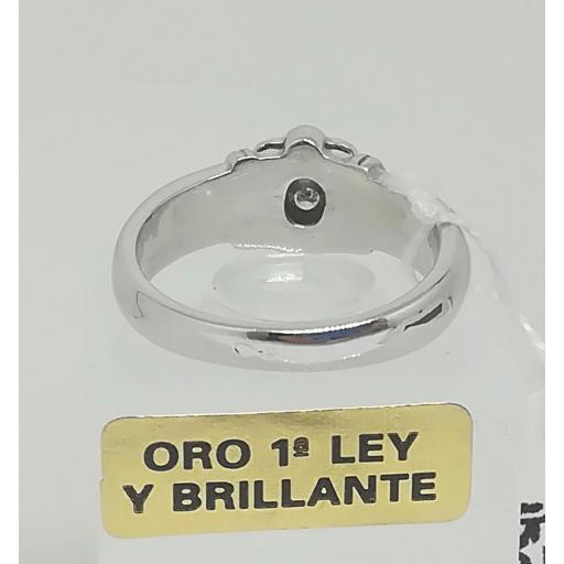 Anillo Diamantes Compromiso Oro Blanco [2]