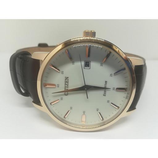 Reloj Citizen Hombre Correa De Cuero Eco Drive BM7463-12A