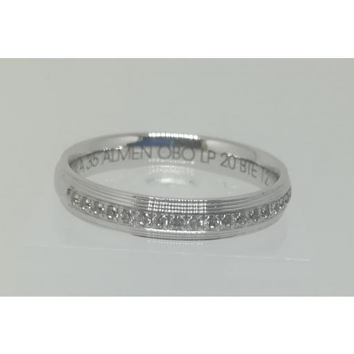 Anillo De Boda Con Diamantes ELEKA Oro Blanco Modelo Almendra [0]