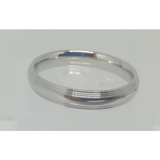 Anillo De Boda Con Diamantes ELEKA Oro Blanco Modelo Almendra [2]