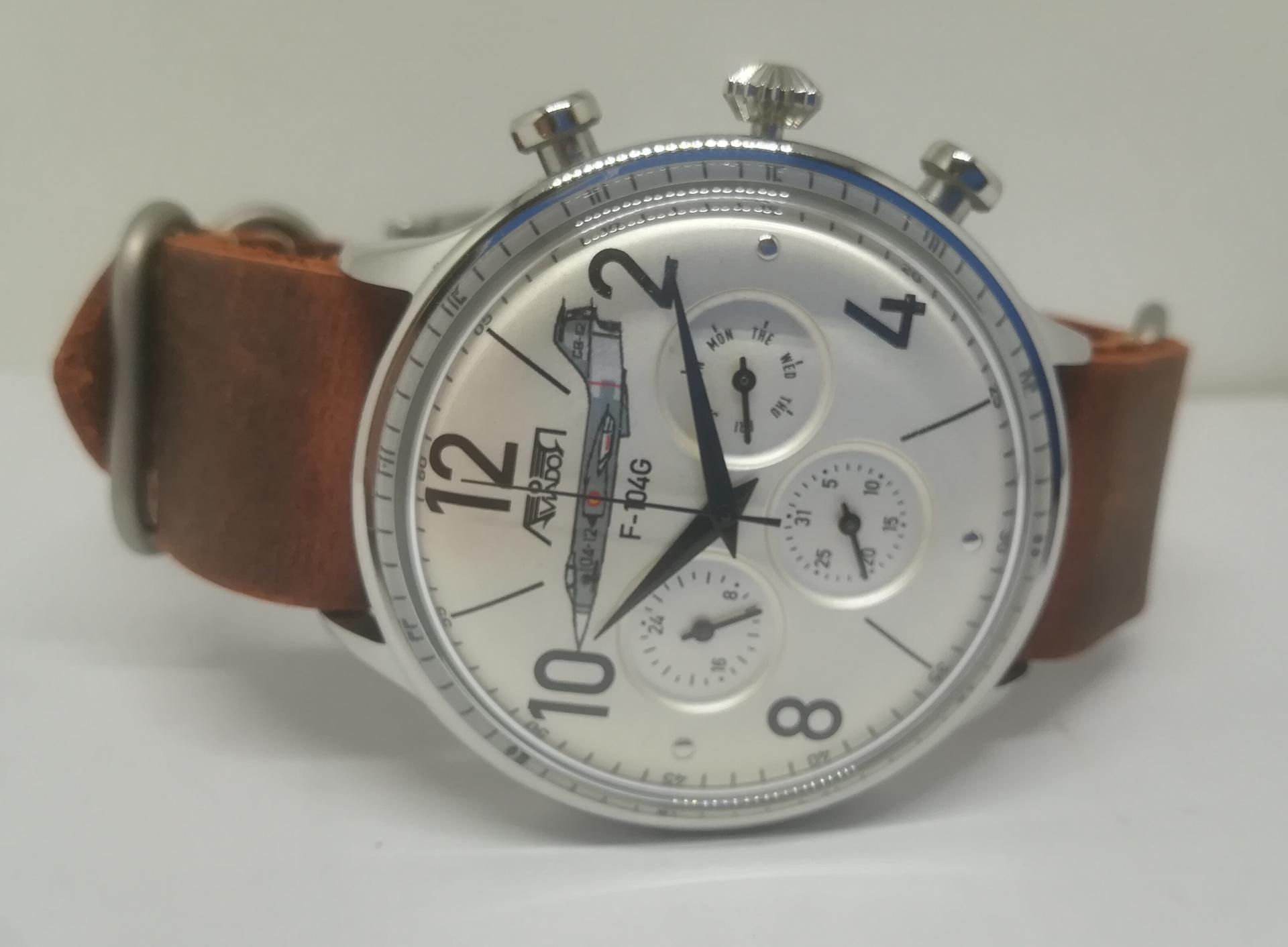 Reloj Hombre Aviador AV-1230-2-NPM  Escuadron 104