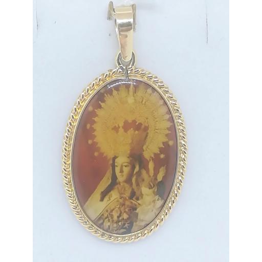 Colgante De Oro Nazareno Y Virgen Del Carmen 18 Quilates [1]