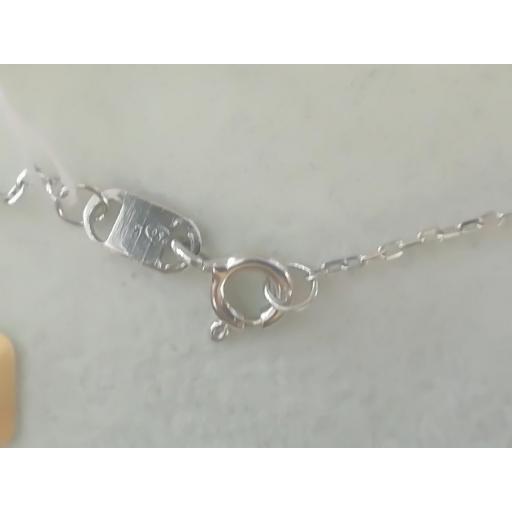 Collar Oro Blanco Con Colgante Punto De Luz De Diamante [2]