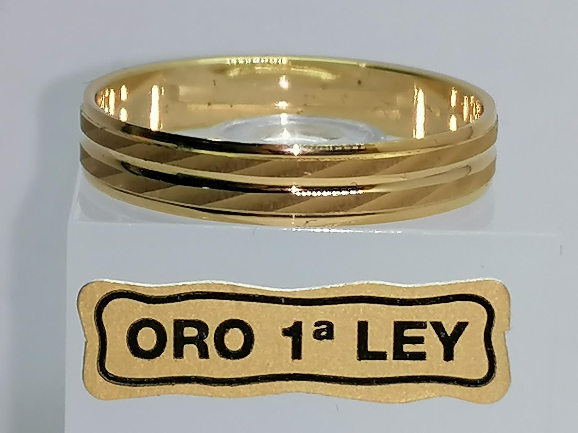 Alianza de Boda Argyor de Oro Amarillo 18 Quilates Diseño Dos Bandas referencia 5140340