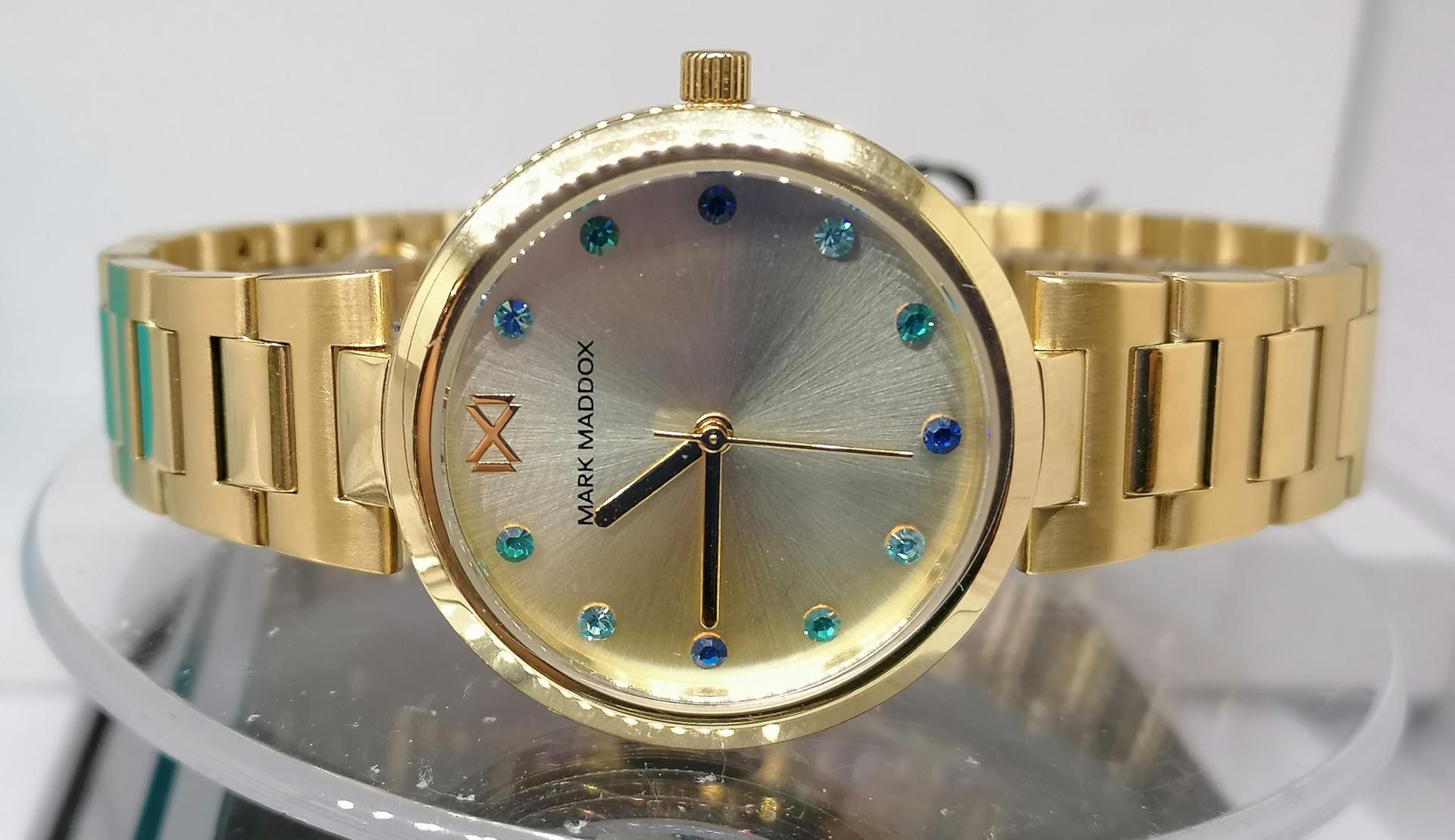 Precioso Reloj Mujer MarK Maddox Fabricado Por Viceroy MM0114-97 Dorado
