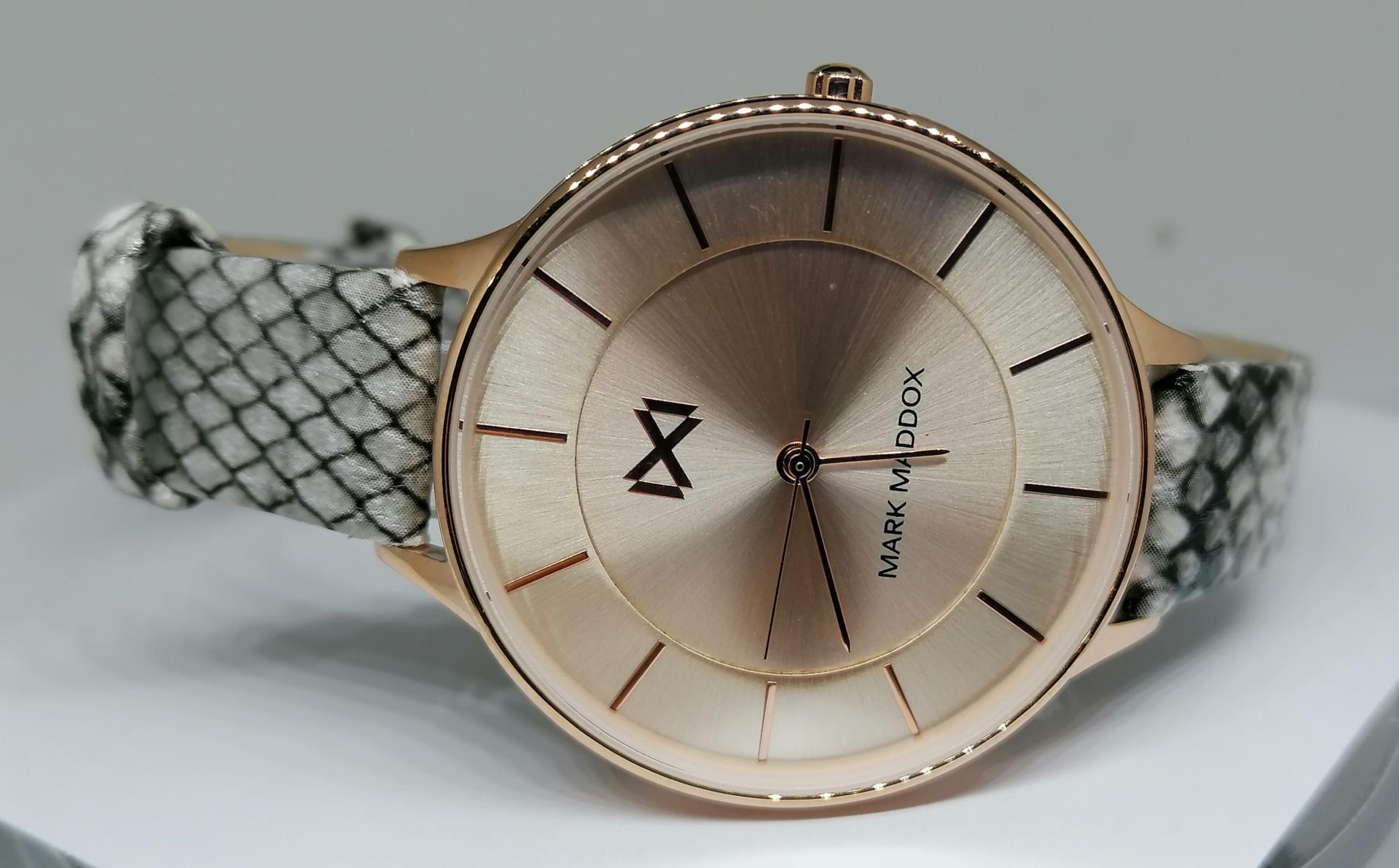 Reloj Mark Maddox Mujer Correa Piel Dibujo Serpiente MC7112-97