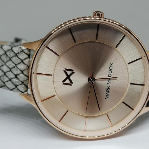 Reloj Mark Maddox Mujer Correa Piel Dibujo Serpiente MC7112-97 [0]