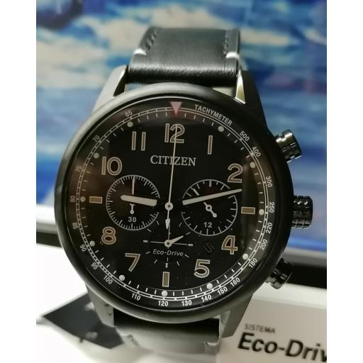 Reloj Pulsera Hombre Citizen Eco Drive Correa De Cuero CA4425-28E