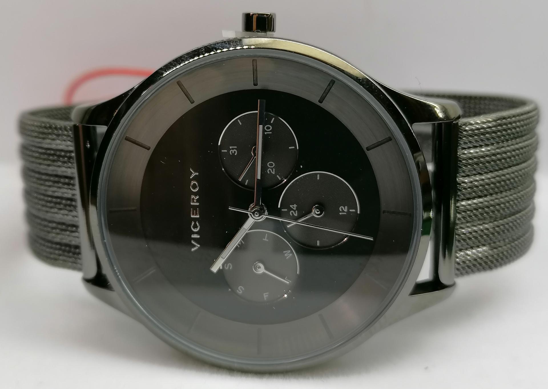 Reloj Viceroy Hombre Nueva Colección Modelo 42301-59 Malla Milanesa Negro