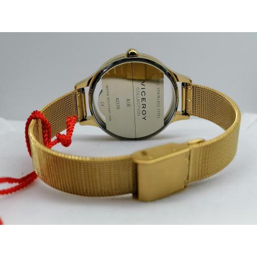 Reloj De Mujer Viceroy Con Brazalete De Acero IP Dorado 42370-90 [2]