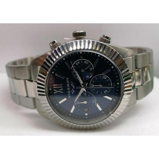 Reloj Viceroy Hombre Acero Bisel Intercambiable 401205-33 ¡No Te Lo Pierdas!