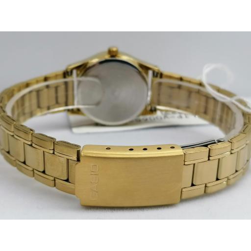 Reloj Casio Mujer Dorado Esfera Blanca LTP-V006G-9BUDF [2]
