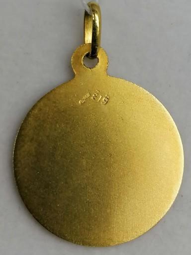 Medalla De La Virgen Del Carmen En Oro Sin Filo 18 Quilates [1]