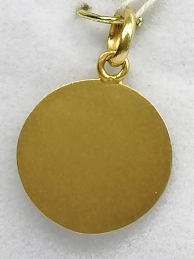 Medalla De Oro 18 Quilates Virgen Del Carmen Filo Liso Ideal Bautizo [1]