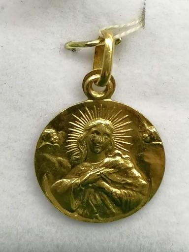 Medalla Inmaculada Concepcion Oro 18 Quilates
