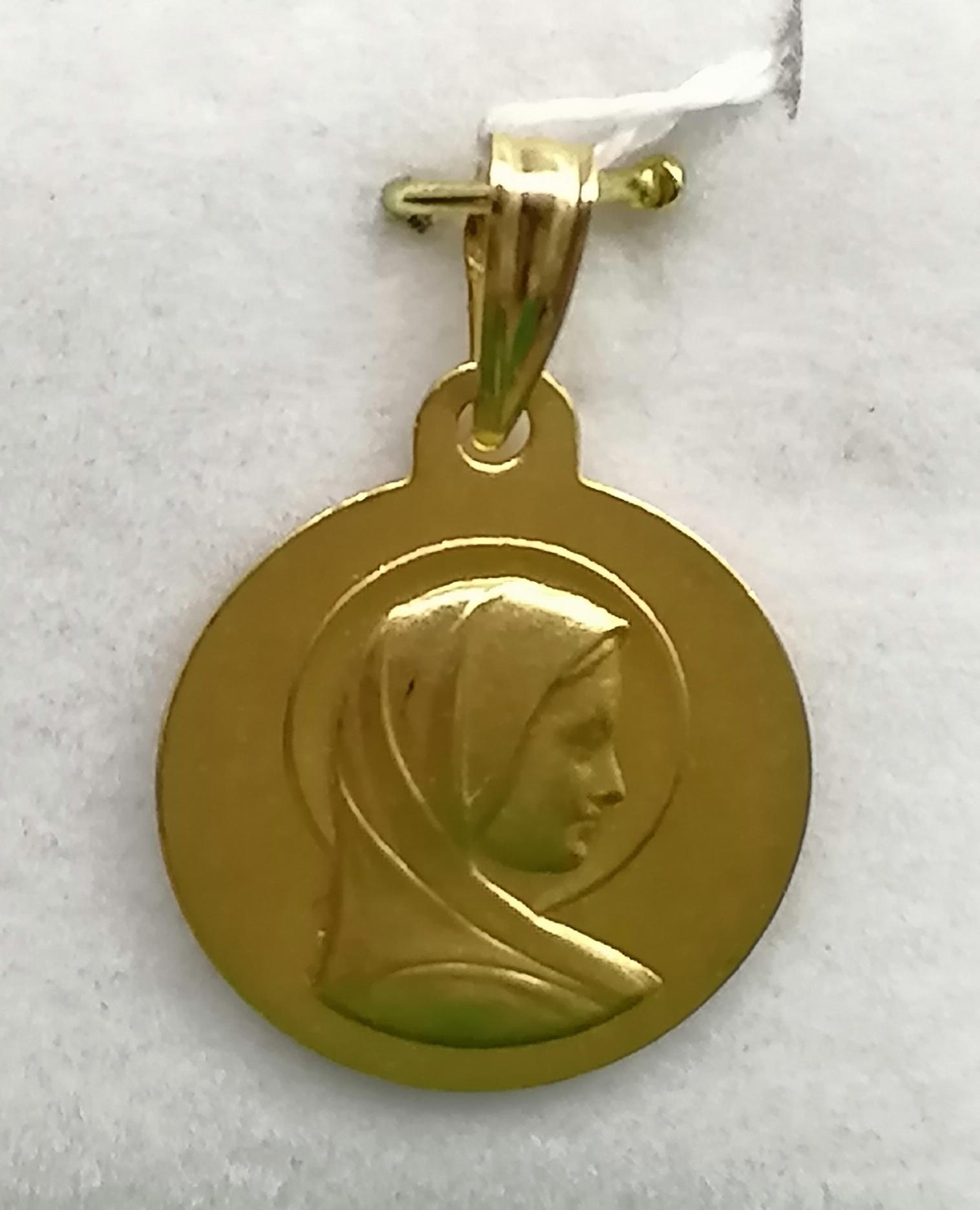 Medalla Virgen Niña Oro Sin Filo
