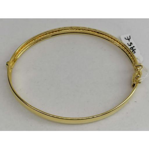 Preciosa Pulsera de Aro en Oro 18 quilates con Circonitas [3]