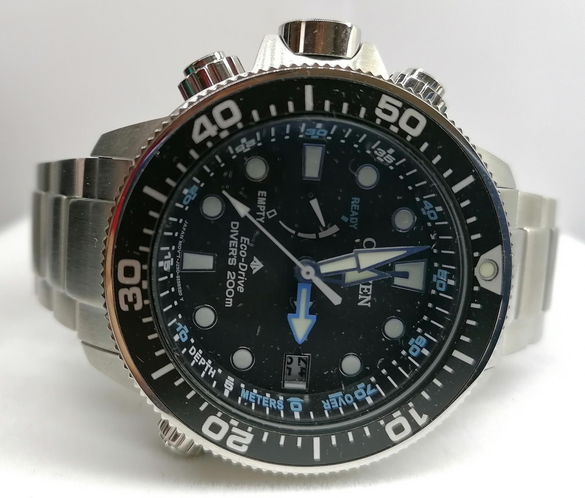 Reloj Citizen Promaster Aqualand Eco Drive Con Profundímetro BN2031-85E