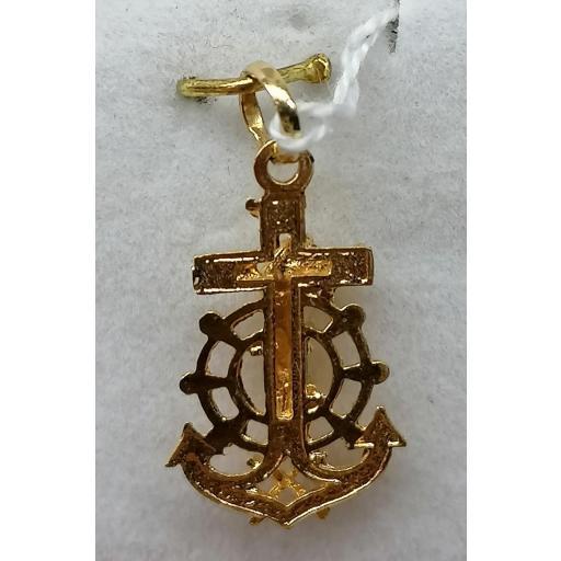 Cruz Marinera Oro Con Cristo 18 Quilates [1]
