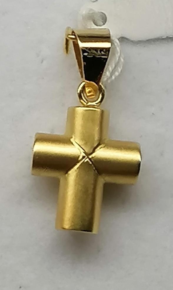 Cruz Oro Cilindrica  Mate