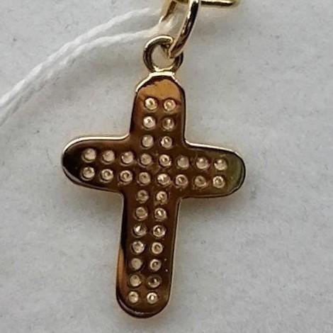 Cruz Oro Circonitas Plana  [1]