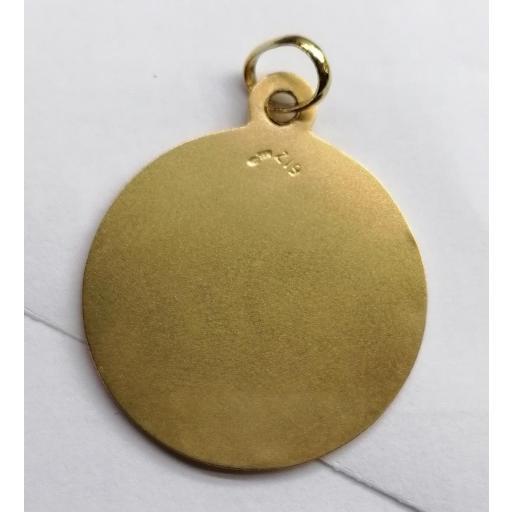Medalla Oro Virgen Carmen Sin Filo De 26 mm [1]