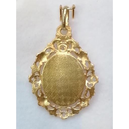 Medalla Calada Virgen Del Carmen Oro 18 Quilates [1]