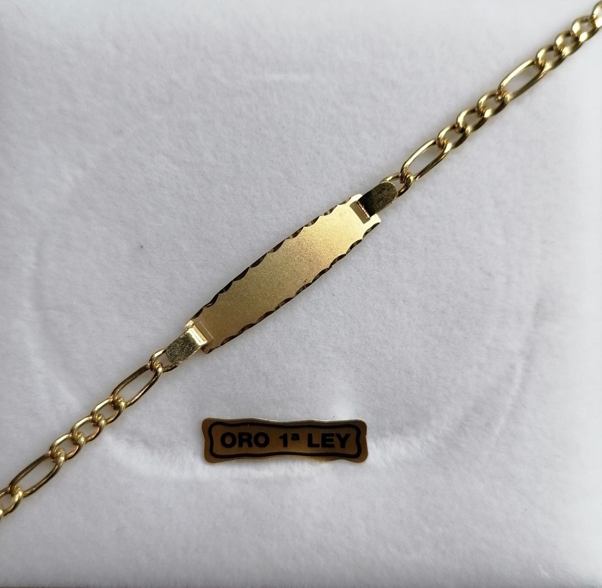 Esclava De Oro Tipo Cartier Para Niña