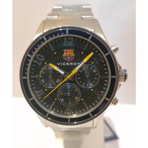 Nuevo Reloj Viceroy FC Barcelona Oficial 471287-55 Para Caballero