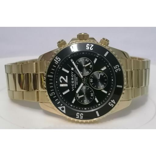 Reloj Viceroy Acero Dorado Caballero 401225-95