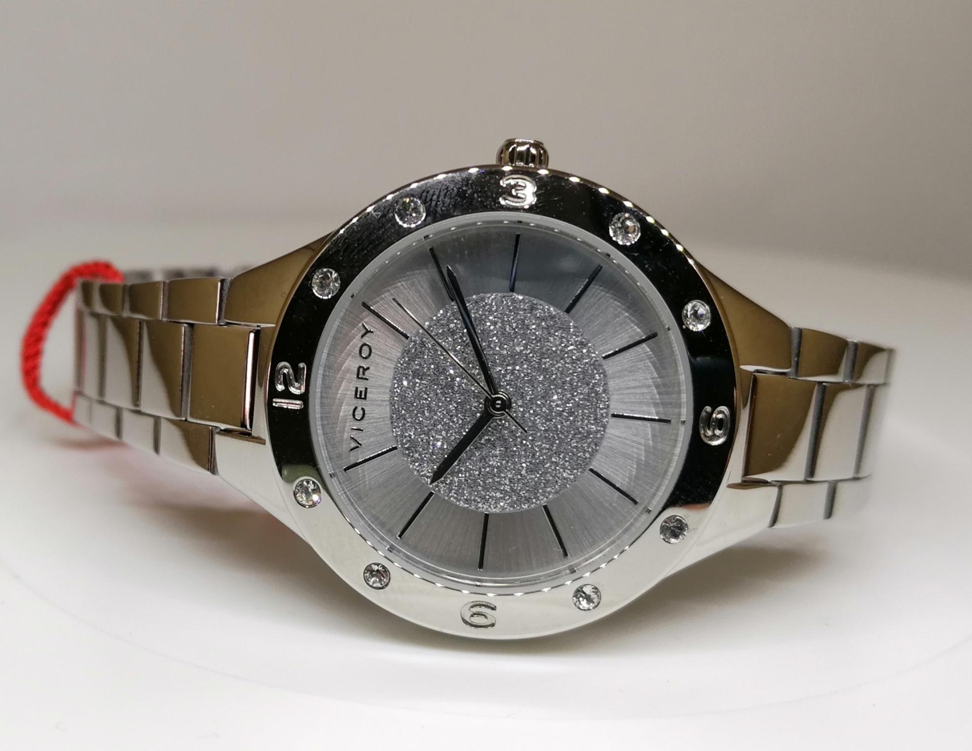 Reloj Viceroy Con Piedras Señora Caja Y Brazalete Acero 42412-07