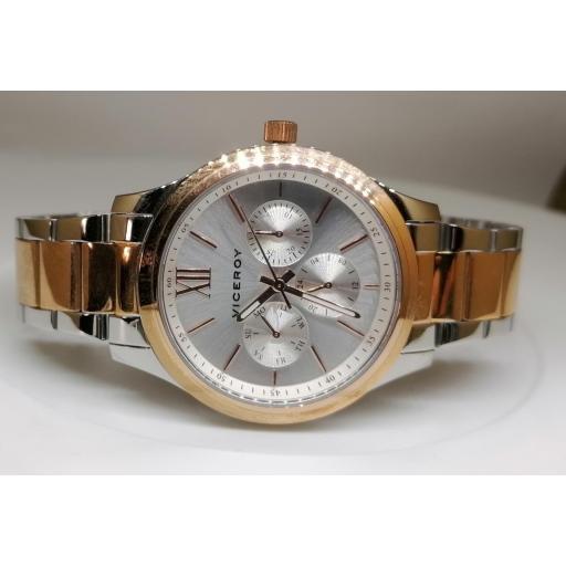 Reloj Viceroy Mujer Bicolor IP Rosa Y Plateado 401070-03