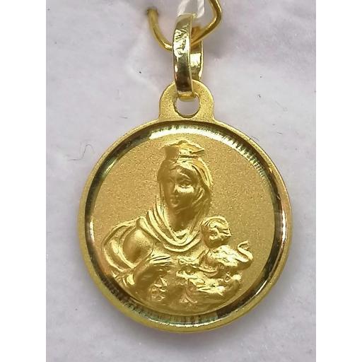 Medalla Escapulario Virgen Del Carmen Oro 16 mm