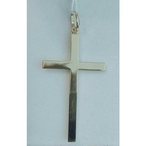 ¡Llévate Esta Cruz de Oro Lisa Sin Cristo Al 15% Dto! [0]