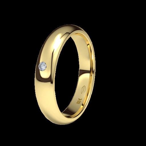 ANILLO DE BODA DIAMANTE Oro Amarillo 18 Kilates ELEKA