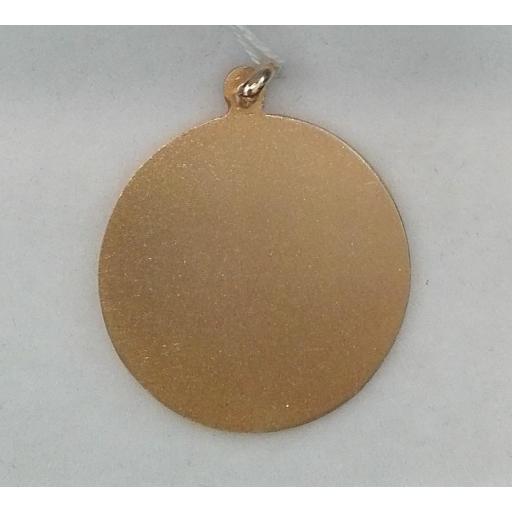 Medalla Virgen Del Carmen Oro Primera Ley Filo Liso  [1]
