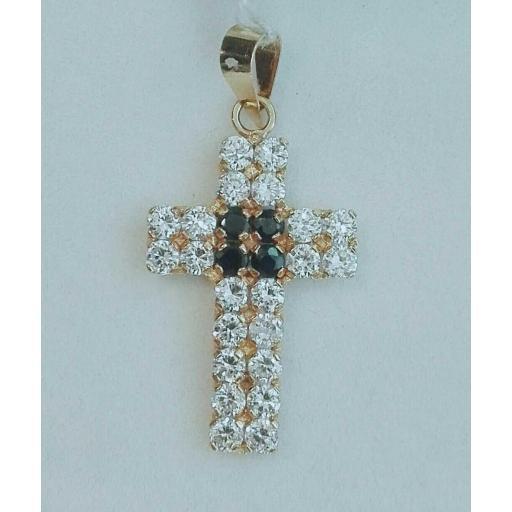 ¡Ven A Comprar Cruz De Oro Con Piedras Muy Elegante!