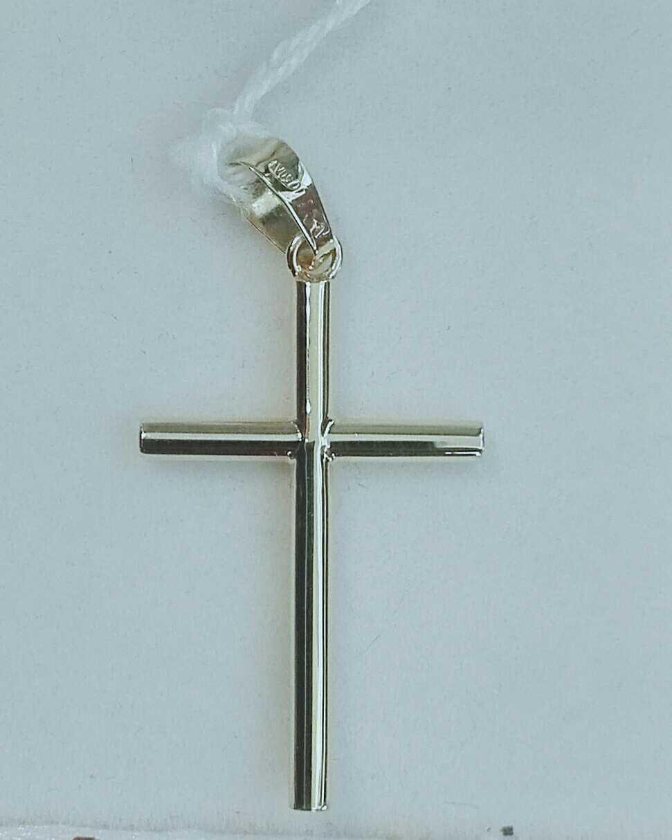 Preciosa Cruz De Oro 18 Quilates Redonda Sin Cristo