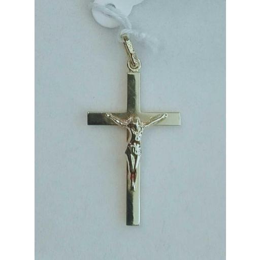 ¡Llévate Esta Cruz De Oro Con Cristo Modelo Pequeña Rectangular!