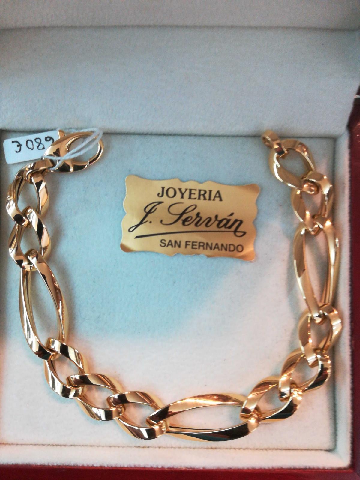 Preciosa Pulsera Oro 18 Quilates Tipo Cartier