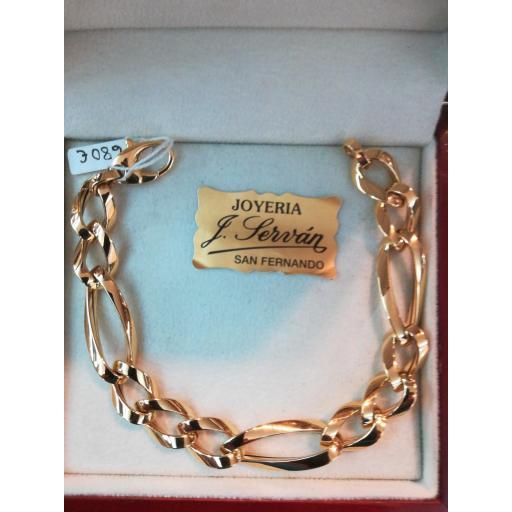 Preciosa Pulsera Oro 18 Quilates Tipo Cartier [0]