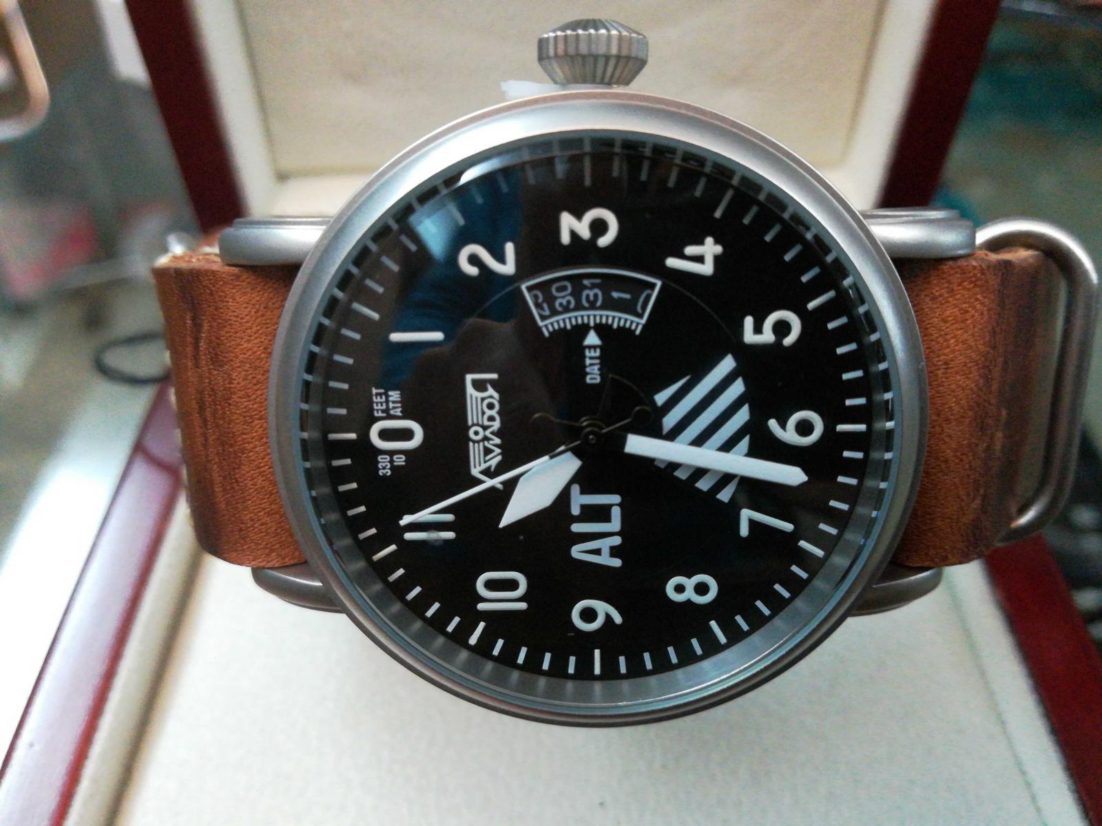 Reloj Piloto Aviador Para Hombre AV-1201-NPM